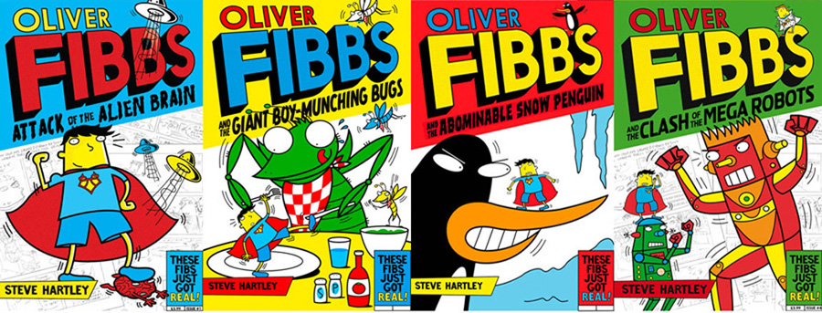 oliver fibbs books - covers and interior illustrations - published by macmillan press, uk