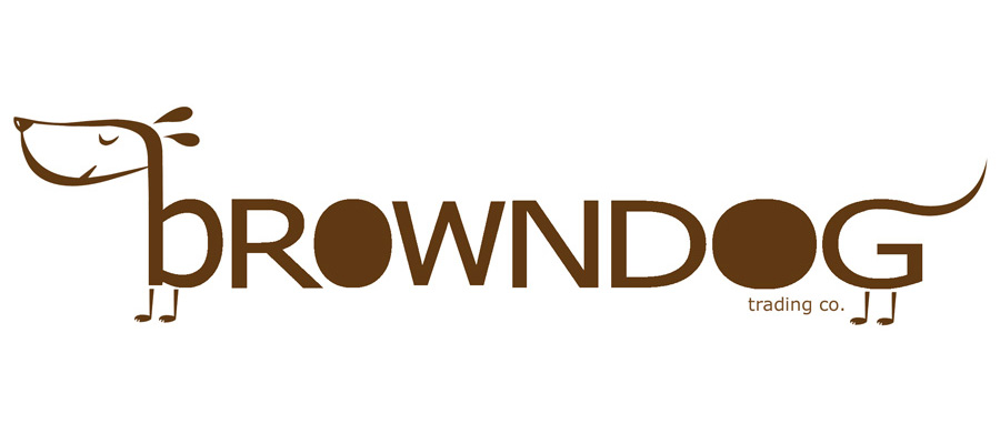 logo for brown dog trading company, canada