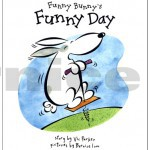 funny bunny's funny day - cover and interior illustration - published by hodder children's books, uk