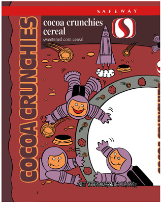 cocoa crunchies cereal - safeway, usa
