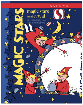 magic stars cereal - safeway, usa